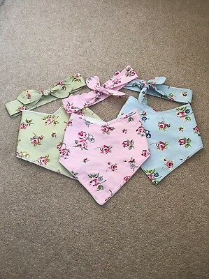 Set Of 3 Dribble Bibs With Matching Top Knot Head wrap
