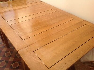 Solid Oak Retro Draw Leaf Dining Table Will Seat Up To 8