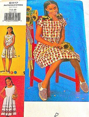 Vtg 80s UNCUT VOGUE FOR ME Pattern #9417 Summer Dress Size 7 8 10 VERY EASY