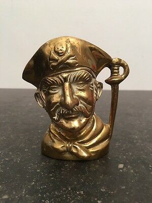 Vintage Brass Toby Jug - Sailor / Pirate - 10cm
