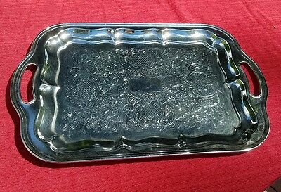 IRVINWARE / Shelton Ware Chrome Plated Serving Tray Platter 18""