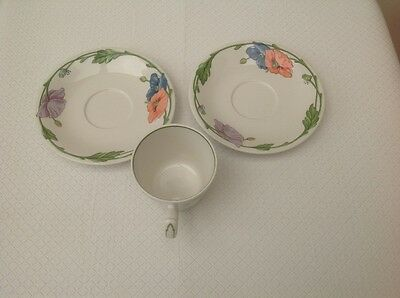 Villeroy & and Boch AMAPOLA large breakfast cup and 2 saucers