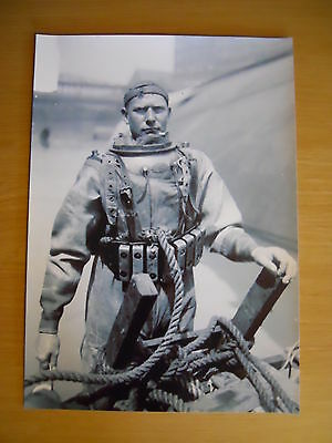 Deep Sea Hard Hat Diving Helmet Print Navy Salvage Siebe Gorman MarkV etc 5