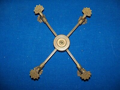Antique Unusual Ornate Fancy Brass Adjustable Trivet