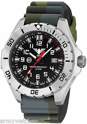 KHS Tactical Watches Men's Military Watch C1-Light Date Camouflage KHS.LANS.DC3