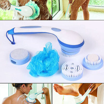 5 in 1 New Electric Cleaning Bath Spin SPA Massage Shower Brush System