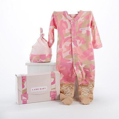 Baby Aspen Layette Gift Set Pink Camo Costume 0-6months NWT