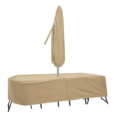 Protective Covers 1156-TN  Weatherproof Patio Table and Chair Set Cover, 72 Inch