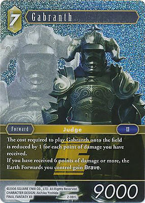 Final Fantasy Tcg: Gabranth 2-081L  Foil.