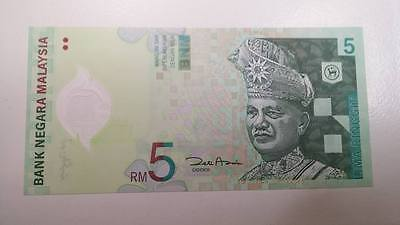 Malaysia 5 Ringgit Nd(2004) P47 Polymer Uncirculated