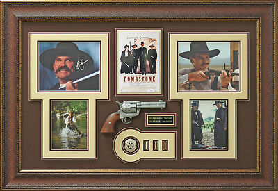 Tombstone Signed Kurt Russell & Val Kilmer Photo display.