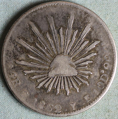 Mexico 1862 4 Reales~Silver~Go YE~Combined S.& H.
