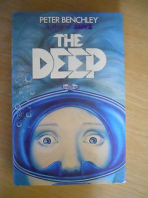 The Deep Peter Benchley Scuba Diving Treasure Fiction Thriller HB DJ