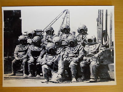 Deep Sea Hard Hat Diving Helmet Print Navy Salvage Siebe Gorman MarkV etc 1