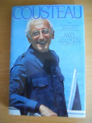 Cousteau Biography HB Rare Collectors Scuba Diving Book First Edition DJ