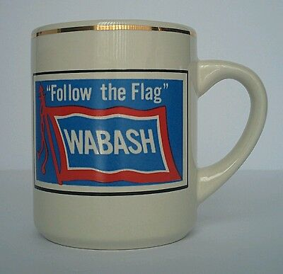 Vintage Wabash Railroad Follow the Flag 8 oz Coffee Mug Cup