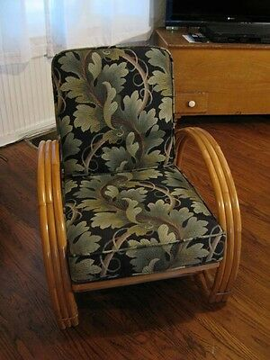 Pair Of Art Deco Bamboo Chairs 1940s Excellent Condition