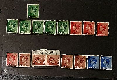 GB KEVIII Mixed Unused Unchecked Stamps (NoL164)