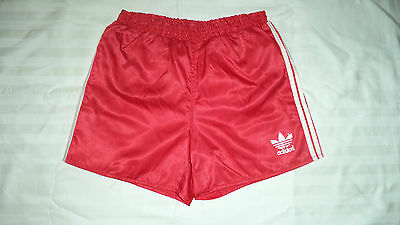 ADIDAS SAMPDORIA 1980s Authentic Vintage Nylon shiny red short NEW without tag