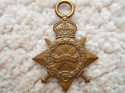 Ww1 Medal 1914-15 Star Full Size Original Highland  ---