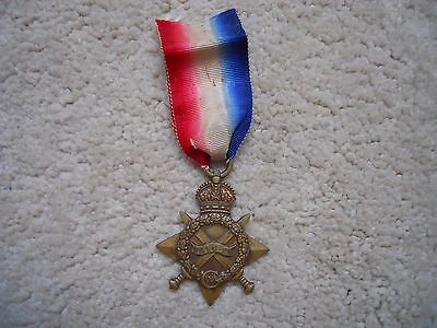 Ww1 1914-15 Star Medal Welsh Regiment Original Full Size