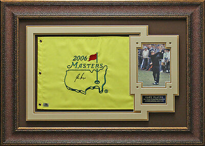 Gary Player Autographed Framed Masters Flag
