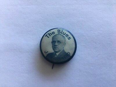 Vintage 'The Blues J.E. FAIRHEAD' Whitehead & HOAG Antique Pinback Button Pin