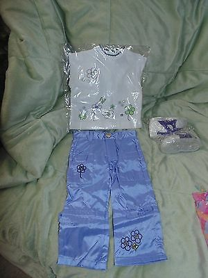 My Twinn 4 Pc Lavender & White Spring Outfit, Top, Pants, Shoes NEW IN PACKAGE