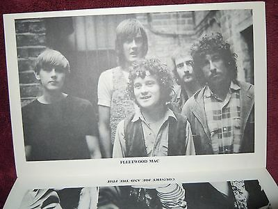 Country Joe Peter Green's Fleetwood Mac Rare 1968 First Fillmore East Program EX