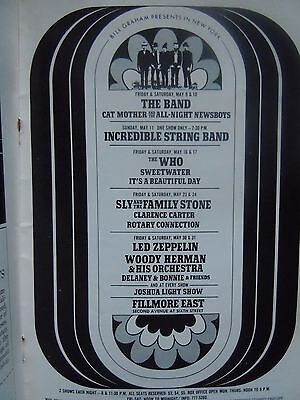 Jeff Beck Fillmore East Program Led Zeppelin Upcoming Concerts and Album Ads