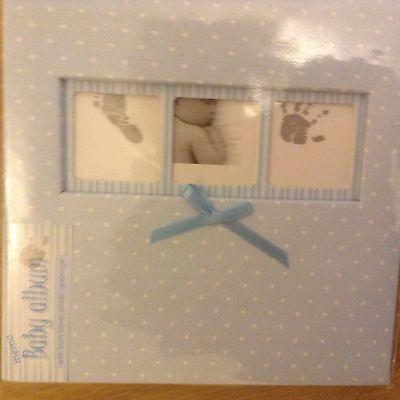"Innova Baby Boy Blue Polka Dot Slip-In Photo Album 50 Pages Hold 200 6x4"" Photos"