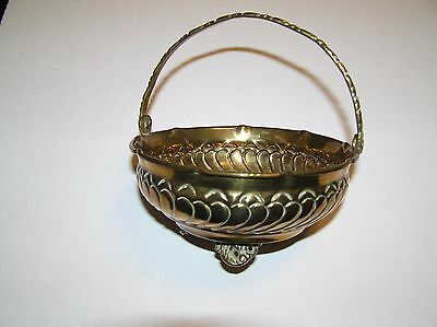 Brass Sugar Bowl with Handle