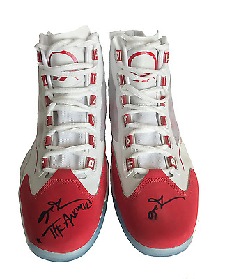 """Allen Iverson Signed Q96 Reebok Shoes Inscribed """"answer"""" Pair Jsa Coa"""