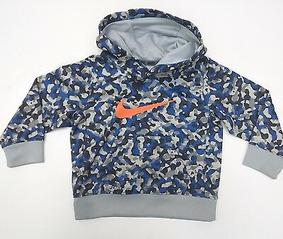 NIKE Toddler Boy's 2T Therma-Fit Blue Camo Hoodie VGUC