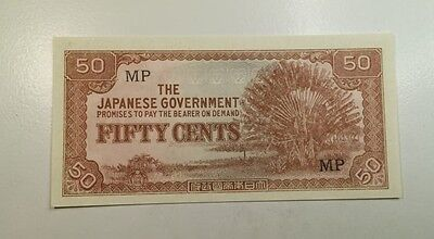 1940's World War 2 Japanese Government 50 Cent Military Note