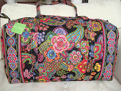Vera Bradley Large Duffel Bag - Symphony In Hue - Brand New With Tags