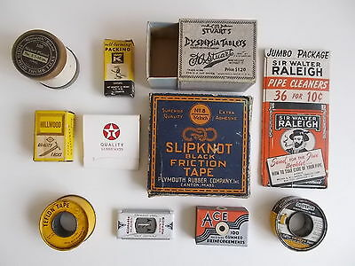 Vintage Lot Of Cardboard Box Container Advertising