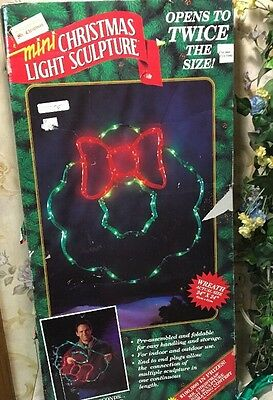 "Mr Christmas WREATH Mini Light Sculpture in Original Box 24"" x 24"""