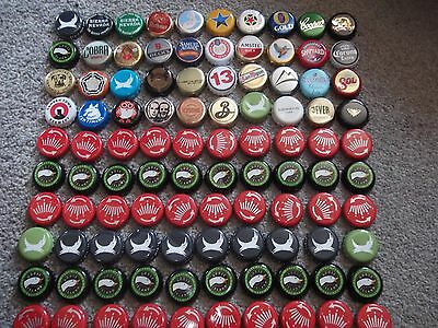 Lot of 100 Used Bottle Tops/Caps 40 different
