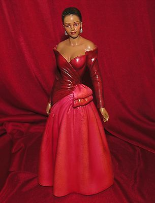 2006 Angelina in red dress ~ Home Interiors Figure 12685-06 ~ 10 Inches