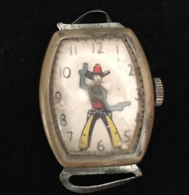 Antique Novelty Toy Cowboy Watch No Band Hopalong Cassidy