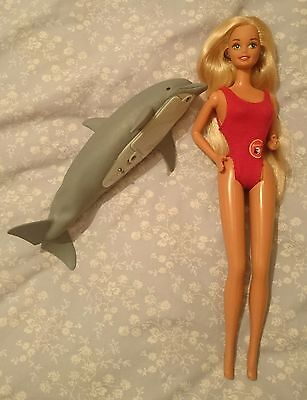 Baywatch Barbie Doll and Dolphin Vintage HTF