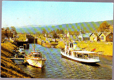 Vintage used Arthur Dixon Postcard Scotland, Caledonian Canal Fort Augustus 1986