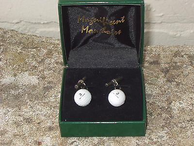 St Andrews Old Course Golf Ball Cufflinks