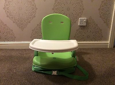 Mothercare Travel High Chair / Booster Seat With Tray And Storage Bag