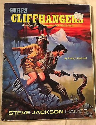 Gurps Cliffhangers Rpg Good Condition Rare Softcover