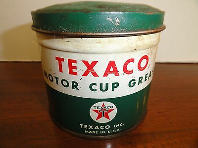 ~ Vintage TEXACO Motor Cup Grease Can ~ 1 LB. NET ~ Dated May 1959