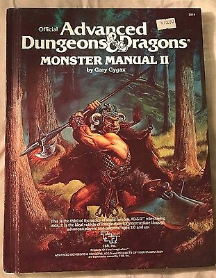 Advanced Dungeons & Dragons Monster Manual Ii Vg Hardcover