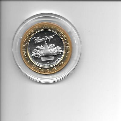 2002 .999 Silver Flamingo Ten Dollar Gaming Token Laughlin Nevada