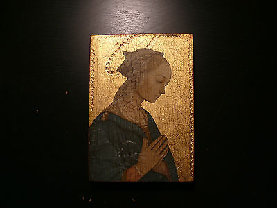 Icone, tableau vierge ancien feuille d'or